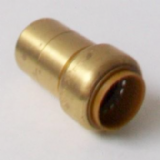 Brass Push Fit 28mm Fitting Reducer to 22mm Pipe - 27062216